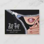 Zip It Up Business Card template (salon)